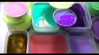 My Slime Collection Update #1 And Mixing all of slime