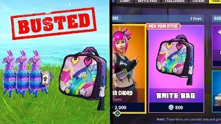 The Legit Way on How To UNLOCK 'Brite Bag' in FORTNITE... (Fortnite Mythbusters)