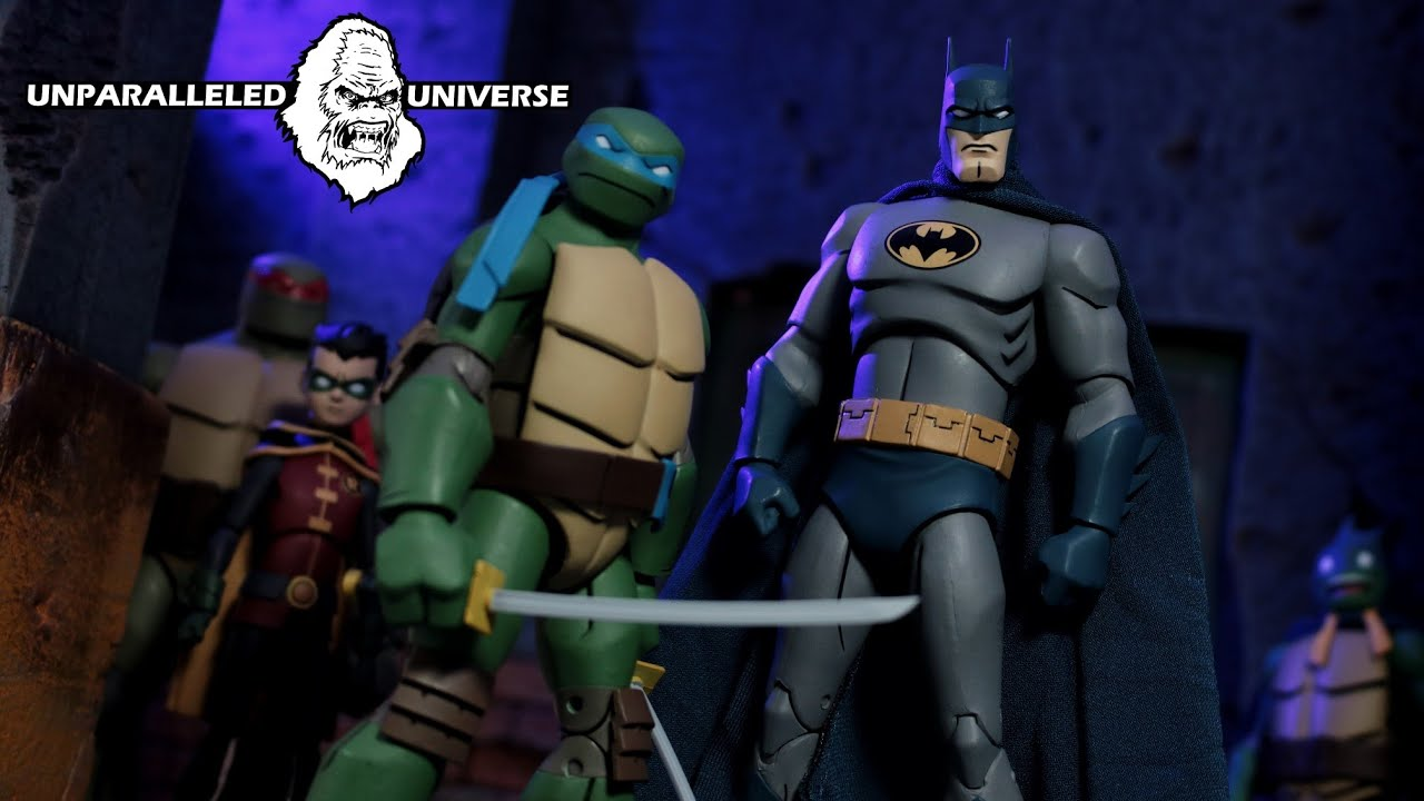 Dc Collectibles Batman Vs Teenage Mutant Ninja Turtles Leonardo Batman 2 Pack Youtube