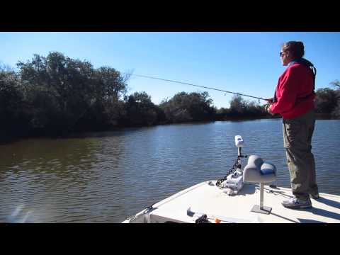 Cindy Catching Speckled Trout - Lavaca River