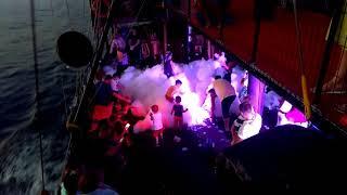 Foam Disco Party | Pirate Boat | Alanya Turkey (2018)