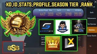 Kinganbru | maxtern | blac legit |gamex pro,legend x,bandookbaaz ID STATS, SEASON TIER, season rank
