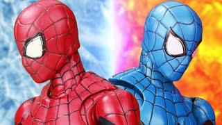 Fire Spider-Man Vs Icy Spider-Man Best Scene In The Spider-Verse Figure Stopmotion