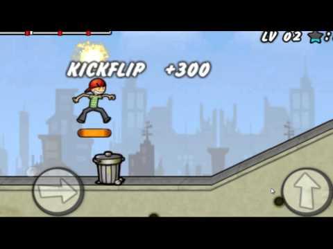 Мальчик катается на скейтборде.Игра как мультфильм для самых маленьких