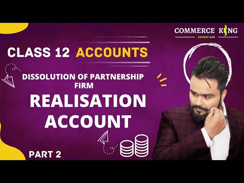 #48, Class 12 accounts(Dissolution:Realisation account making)chapter 6