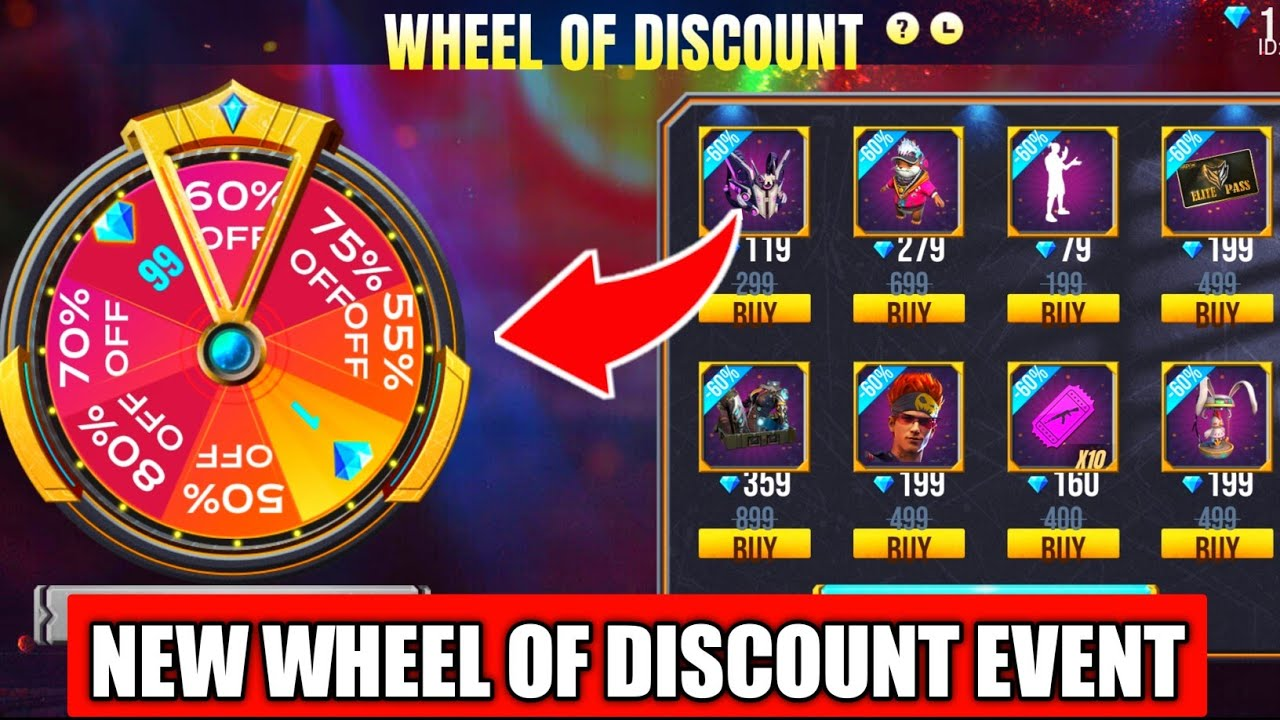 Free Fire New Wheel Of Discount Event Full Details // How To Get Only 1 Diamond All Item Free Fire