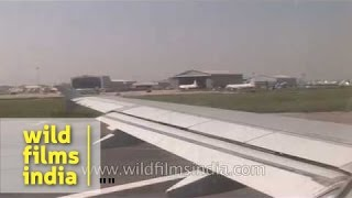 Flight takes off from Indira Gandhi International Airport - Delhi