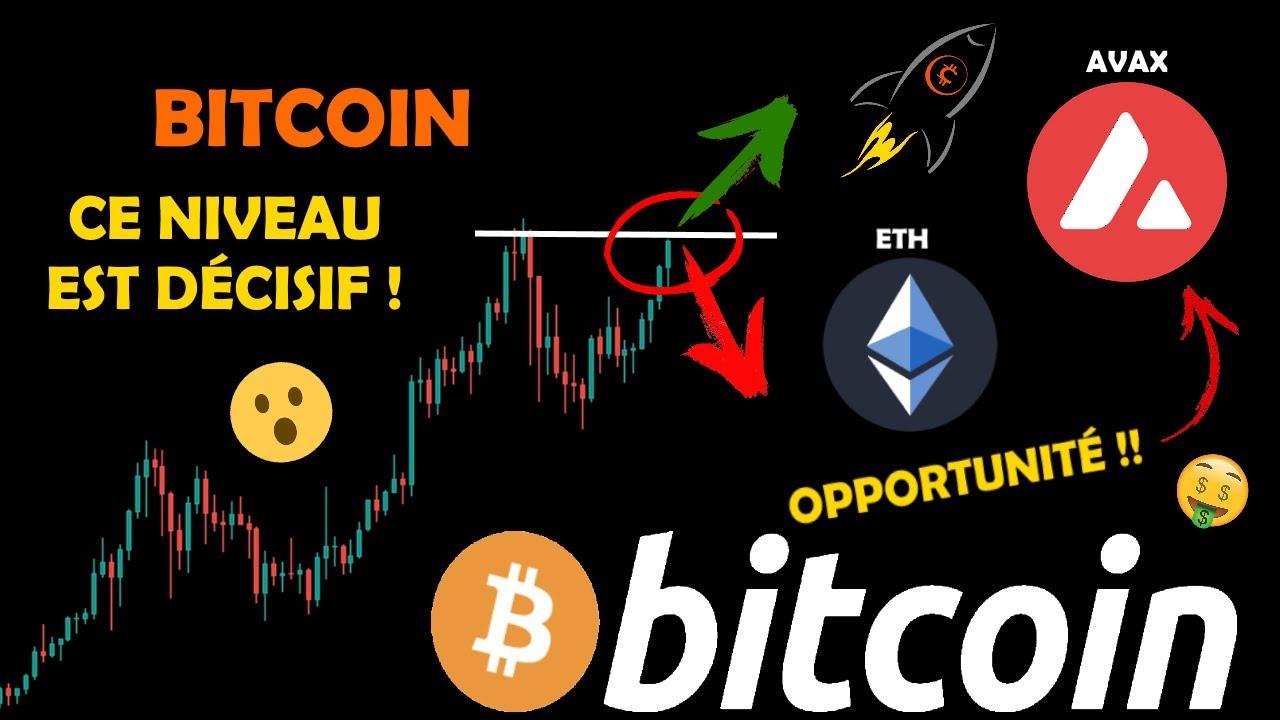 BITCOIN 😲 MOMENT DÉCISIF ! / ETHEREUM 🤑 SUR SON OBJECTIF / AVAX 🚀 OPPORTUNITÉ analyse crypto monnaie