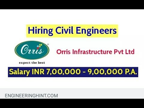 Orris Infrastructure Pvt Ltd Hiring Civil Engineers – Salary INR 7,00,000 – 9,00,000 P.A.