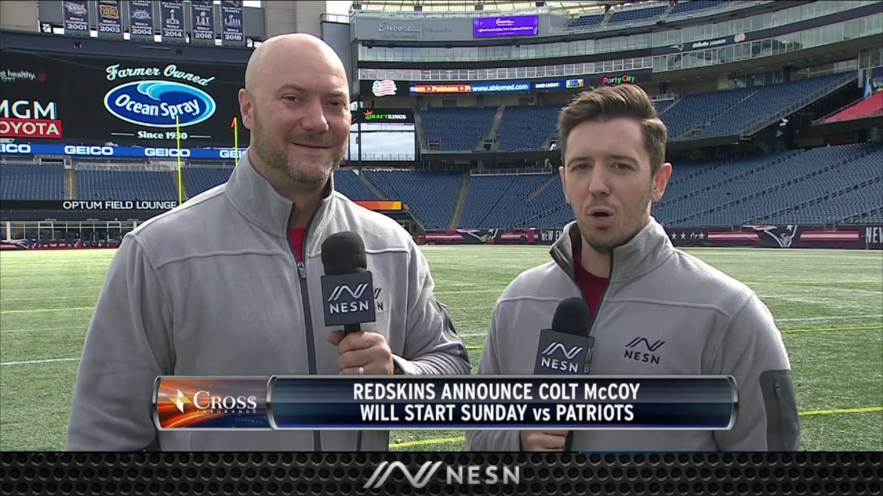 Redskins Name Colt McCoy Starter Conveniently After Patriots Practice