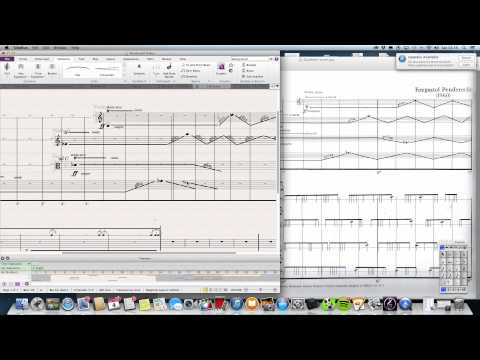 Advanced notation using Sibelius 7.5. Part 1