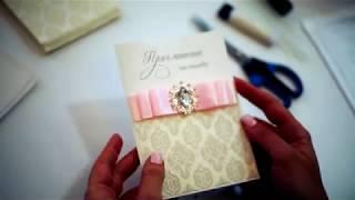 Свадебные приглашения на свадьбу своими руками, мастер-класс
