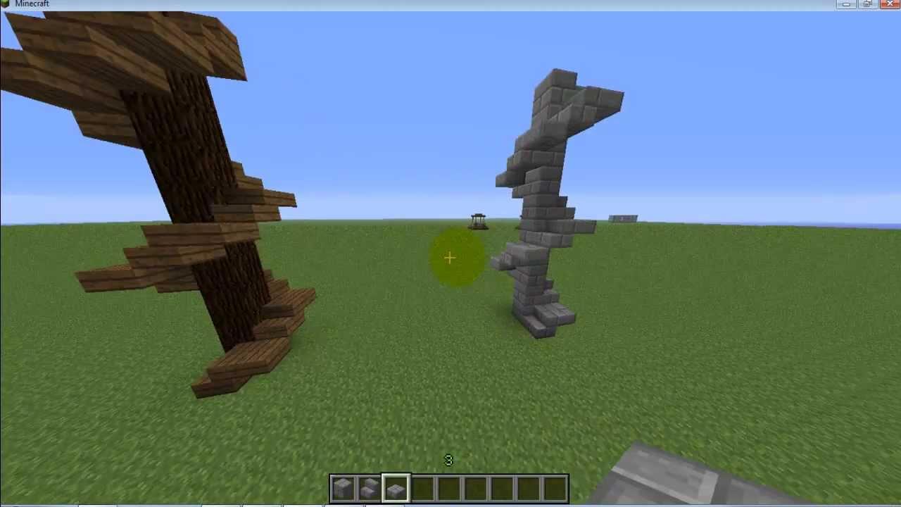 Como Construir Uma Escada Moderna Em Minecraft Youtube