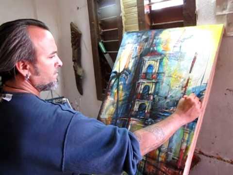 Cuban Art Studio - Carlos César Román Pérez in Trinidad de Cuba