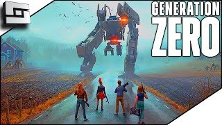 Attacking A Castle Full Of Killer Robots In Generation Zero Gameplay E2