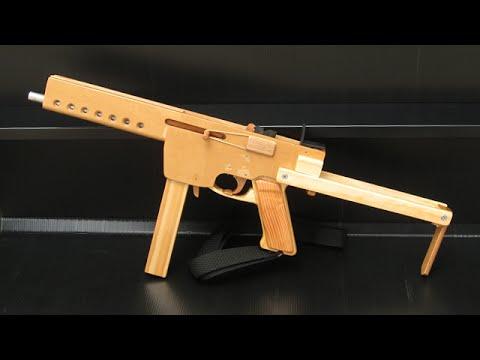[rubber band gun] blowback MAT-49 - YouTube