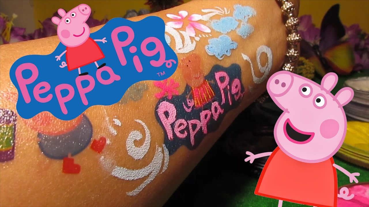 Diy Peppa Pig Temporary Tattoo And Face Paint With Friends By The Toy Park