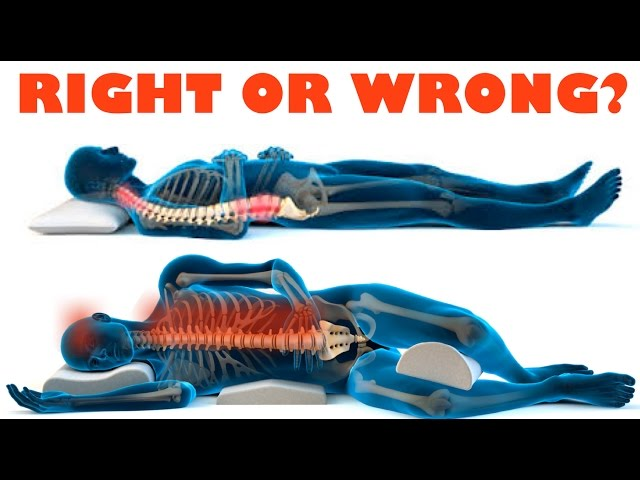 How to improve your health with the right sleeping position - right and wrong sleeping posture