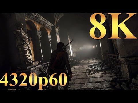 Rise Of The Tomb Raider 8K 4320p60 Gameplay Titan X Pascal 4 Way SLI Gaming 4K | 5K | 8K And Beyond