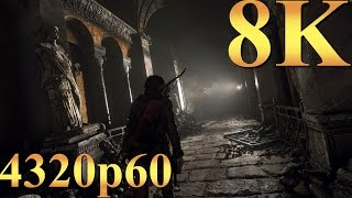 Rise of the Tomb Raider 8K 4320p60 Gameplay Titan X Pascal 4 Way SLI Gaming 4K | 5K | 8K and Beyond