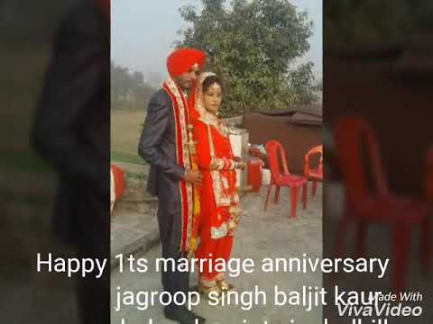 Jagroop singh 1ts marriage anniversary