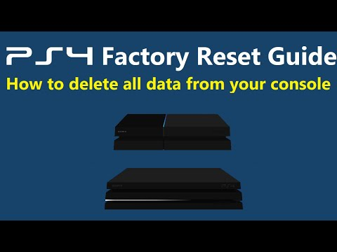 How to Factory Reset a PS4 (Initialize, Delete All Data)