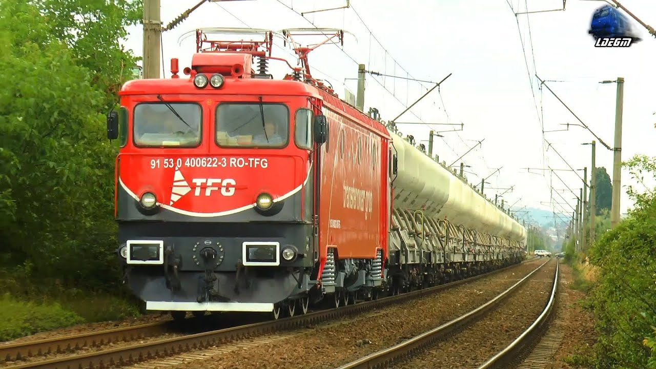 LE5100KW 40-0622-3 & Tren cu Ciment Transferoviar Grup Cement Train in Cluj Napoca - 03 July 2021