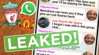 Manchester United v LIVERPOOL | Reds Leaked Group Chat Revealed