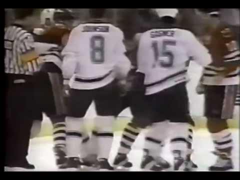 Chicago Blackhawks vs Minnesota North Stars Brawl 1991
