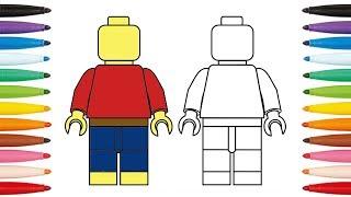 Comment dessiner un lego - How to draw lego Minifigures