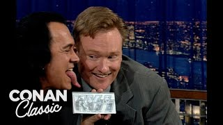 "Gene Simmons Shows Off His Iconic Tongue  - ""Late Night With Conan O'Brien"""