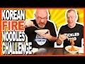 Korean Fire Noodle Challenge! 극단적 인 불닭 볶음면 도전! Ken Vs Paul | Kbdproductionstv video