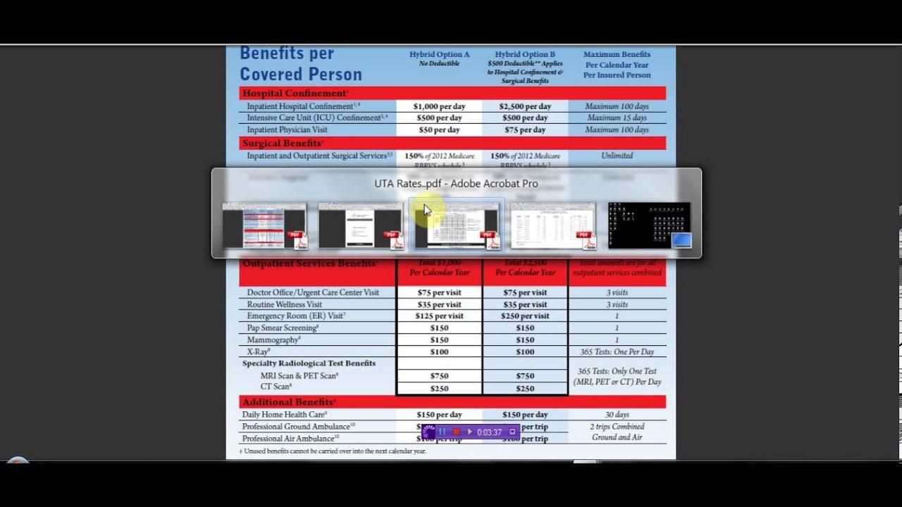 SBA CIGNA Health Care Simple Explanation of coverage and no ...