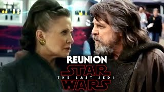 Star Wars The Last Jedi Luke & Leia Reunion Hint Revealed & More!