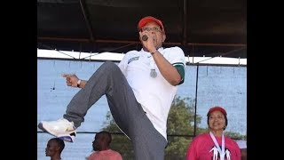 Fikile Mbalula celebrating life after being fired!