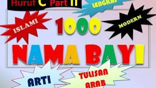 1000 Nama Bayi Perempuan Islami 3 Kata Lengkap dengan Arti dan Tulisan Arab Huruf C Part 2