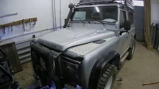 Landrover Defender - ремонт рулевой тяги в полевых условиях.