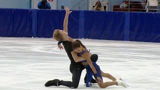 Диана Дэвис - Глеб Смолкин. Произвольный танец. Танцы. Предсезонные контрольные прокаты по фигурному
