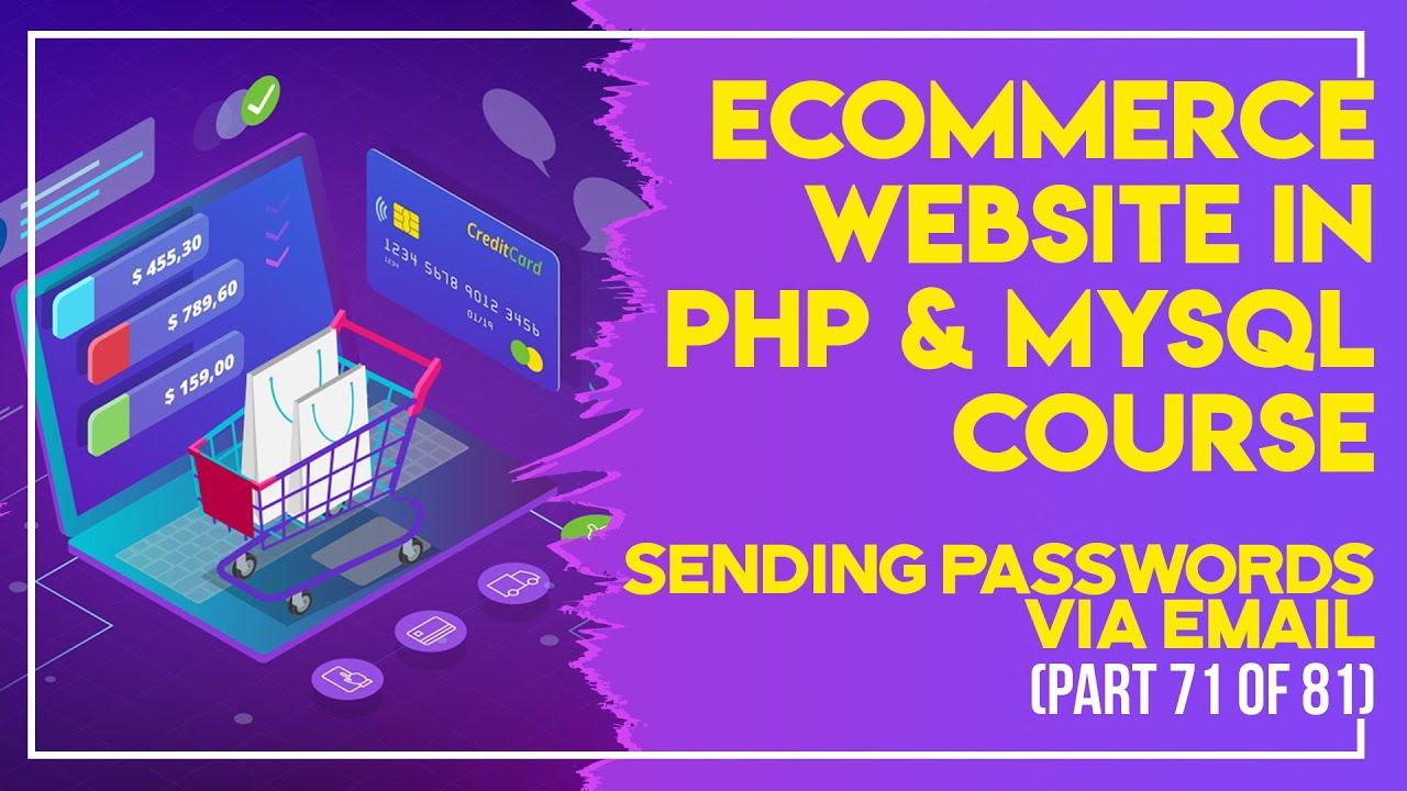 E-Commerce website in PHP & MySQL in Urdu/Hindi part 72 sending passwords via email