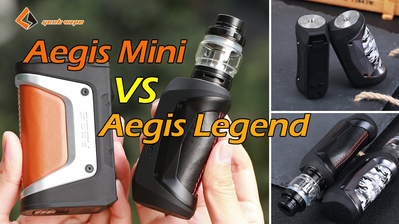 Geekvape Aegis Mini Kit VS Aegis Legend Kit | Aegis Mini Kit Unboxing |  Elegomall