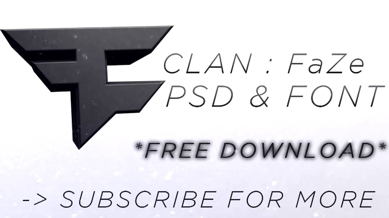 FaZeClan Logo PSD + Free Download ! - YouTube
