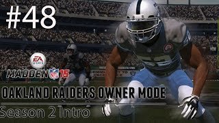 [PS4] Madden 15: Raiders Connected Franchise - Season 2 Intro [HD 1080P]