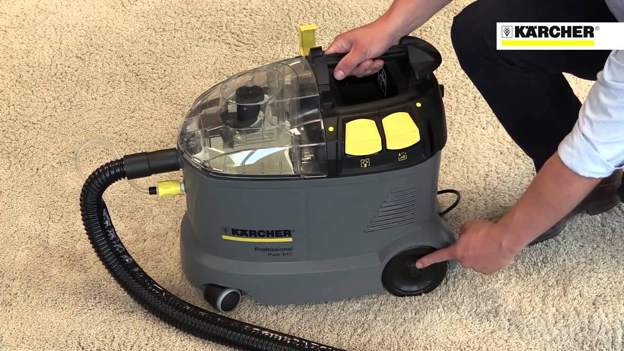 karcher puzzi 8 1 c portable upholstery cleaner youtube. Black Bedroom Furniture Sets. Home Design Ideas