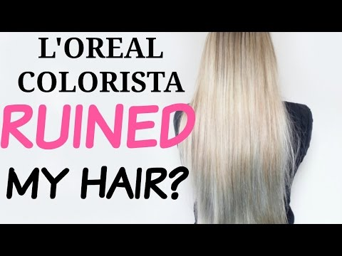 c7b8fba3606 L'OREAL COLORISTA WASHOUT REVIEW | 2 month FOLLOW UP | PROBLEMS | RUINED MY  HAIR? (CC) - YouTube