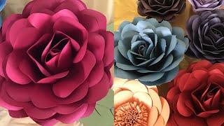 Paper Rose Flower Tutorial for Beginners | FREE Template & Measurements/Cut W CRICUT