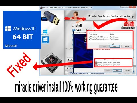 Fix Miracle Driver Install Problem Windows 10 64bit Or Win 8 100% Working (Solve) Full HD