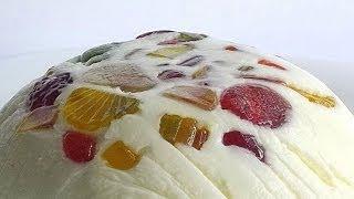 Торт-Желе «Битое Стекло» кулинарный видео рецепт(Вместо сахарной пудры вполне можно взять сахар, однако это сильно увеличит время готовки -- сахар растворяе..., 2014-05-30T03:00:01.000Z)