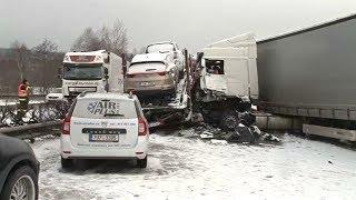 Массовое ДТП в Чехии: столкнулись более 40 машин (новости)