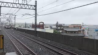 【雨の中を通過する区間急行館林行き8両固定車】東武10000系11801F