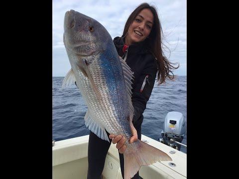 Elena a pesca.
